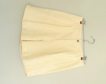 Vintage High Waisted Yellow Shorts, Late 80's Early 90's, Women's 9/10