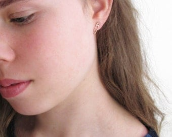 safety pin earrings, necklace, silver or rose gold safety pin earrings, #safetypin, social justice, anti-discrimination, equal rights