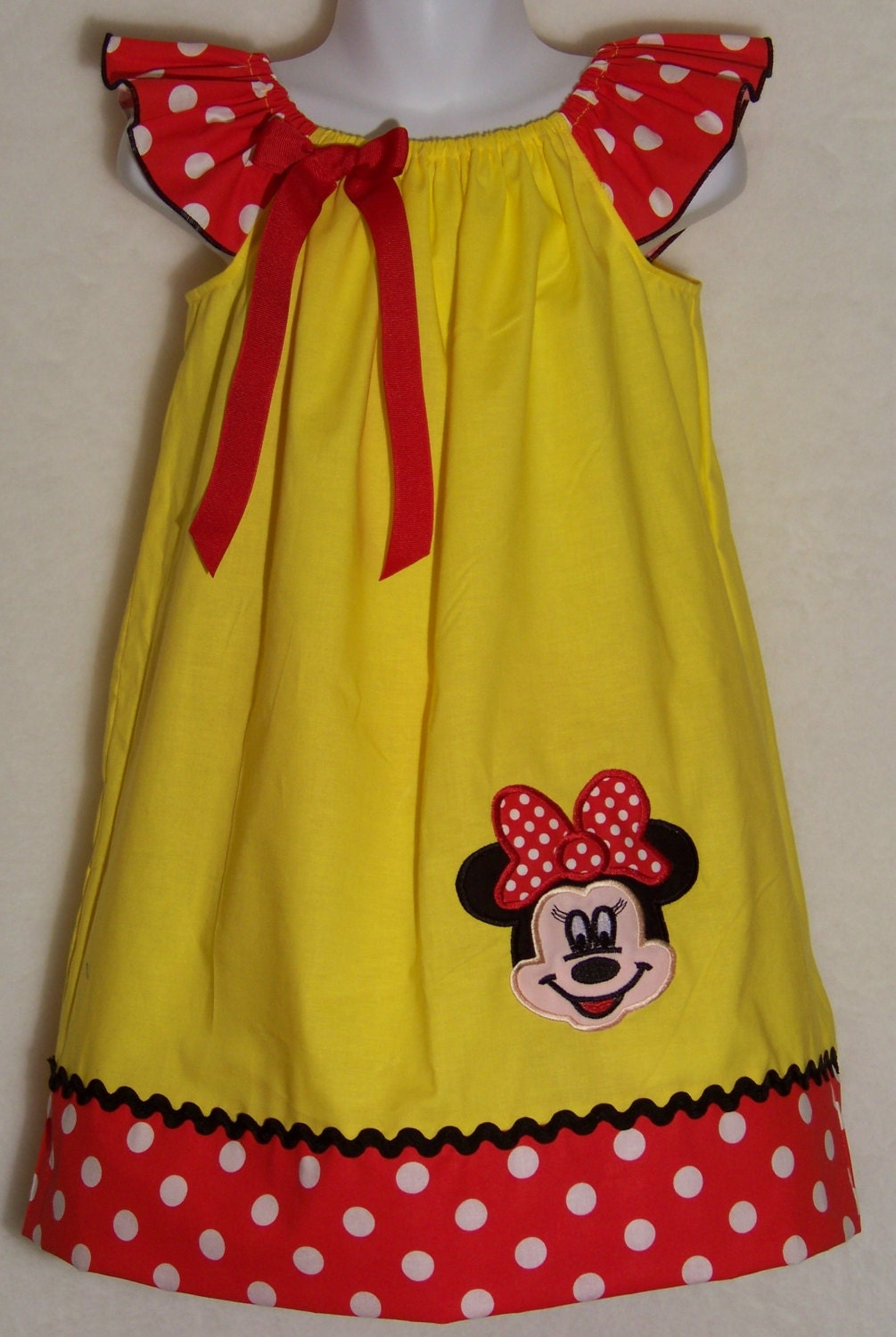 Minnie Mouse Dress Red Yellow Disney By