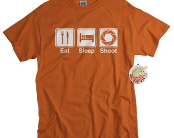 Gift For Photographer T-shirt Funny Photography Tshirt DSLR Camera Screen Print Aperture Mens Womens Youth Tee Shirt Eat Sleep Shoot