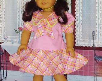 Easter Dress and Easter Bonnet  fits American Girl Dolls