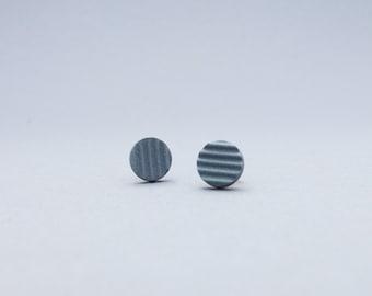 Elegant post earrings, porcelain posts dark gray, modern posts, minimal posts earrings, modern jewelry