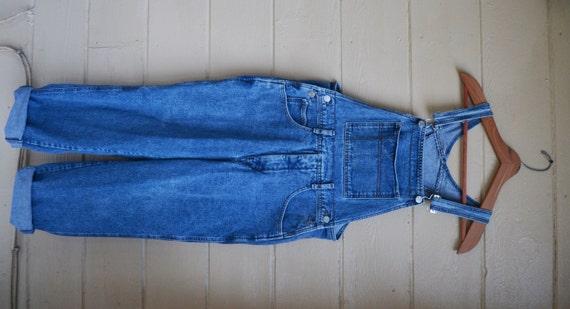Vintage 80 S Guess Denim Overalls Blue Denim Romper Jumper