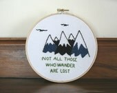 The Hobbit / The Lord of the Rings - Embroidery Hoop