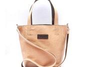 Reversible Leather Tote - Bucket Bag Handmade in Bolivia - Crossbody Bag - Shoulder Bag