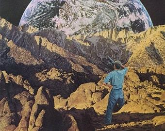 "Collage Print  ""Earth Gaze"""