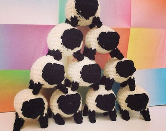 Crochet Sheep Pattern, Amigurumi Pattern, Crochet Toy Pattern, Crochet Baby Toys, Giant Plushie Toy, DIY PDF Lamb Wool