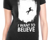 Womens I Want To Believe in Unicorns T-Shirt funny unicorn shirt, womens tshirts, my, ladies, tops, little, last, fantasy, pony S-2XL
