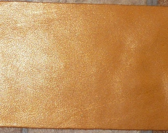 """Leather 8""""x10"""""""" PEARLIZED Golden TOPAZ Cowhide Naturally Distressed 2.5oz/1mm PeggySueAlso"""