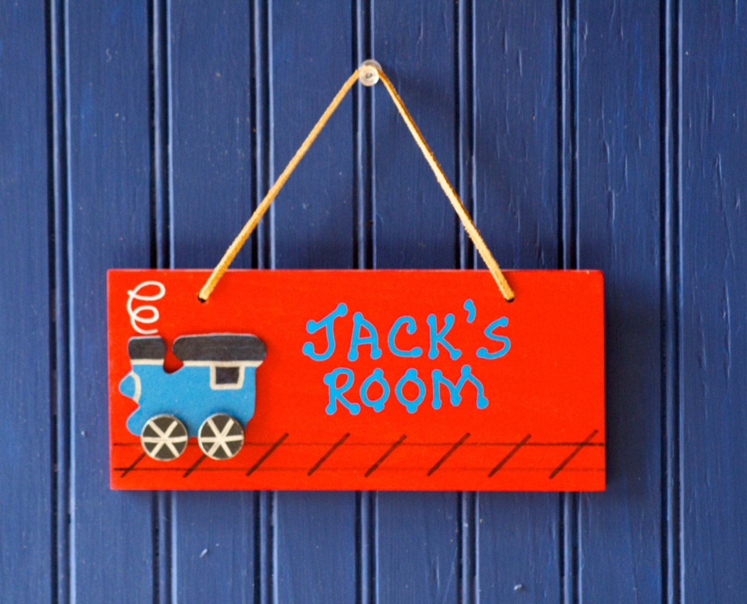 Train Room Sign Red Hand Personalized Wall Decor Boy 39 S