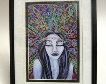 PsychedelicGirl Framed and Mounted Print