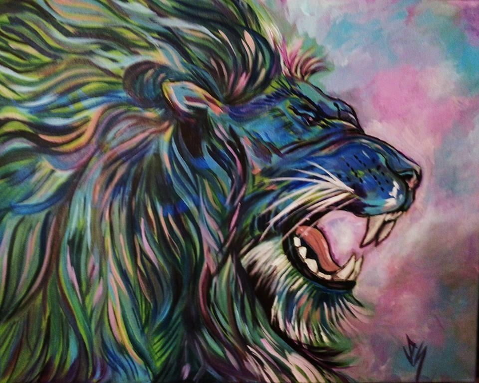 Image Gallery lion abstract painting