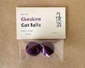 Cheshire Cat Balls, Catnip Toy (One set of balls)