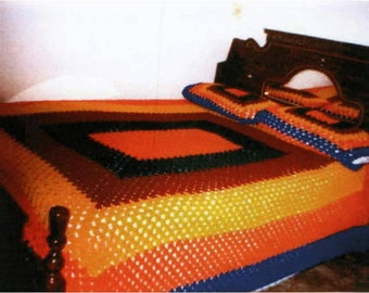 crocheted blanket set