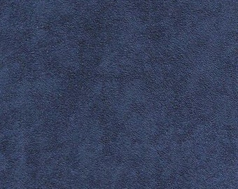 """NAVY Polyester micro faux suede upholstery fabric by the yard 60"""" Wide"""