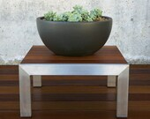 Coffee table (coffee) stainless steel and wood