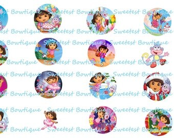 Dora the explore Instant download 1 inch bottle cap images
