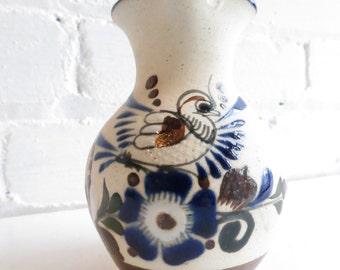 Ken Edwards Vintage Decorative Mexican Stoneware Creamer. Mexican Pottery. Vintage Mexican Decor.