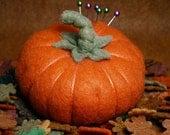 FREE SHIP Fall Pumpkin Pincushion made to order