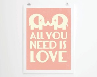 Kids print poster, baby print poster, retro print poster, elephant print poster, poster, posters