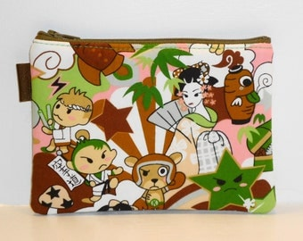 Japanimation Zippered Pouch / Kawaii Coin Purse / Cute Camera Bag / Cosmetic Kit / Travel Accessories / Card Holder - Other Colors Available