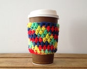 Crochet Cup Cozies, Cozies Crocheted, Crochet Coffee Sleeve, Warm Beverage Cozies, Cold Beverage Cozies