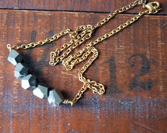 Pyrite Necklace - Fools Gold Necklace - Pyrite Jewelry - Fools Gold Jewelry - bohemian jewelry