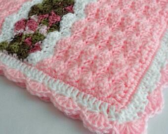 Crochet Pattern - Cameron Baby Afghan Babyghan - Throw Blanket or Lapghan Pattern - PDF Format