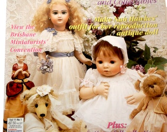 DOLLS, BEARS & COLLECTABLES Australian Magazine- Vol. 11 No.1, tutorials, doll making, quilting, sewing, bear making, projects, techniques
