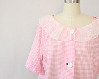 vintage pink gingham nightie