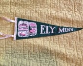 Vintage 1960s pennant flag from Ely, Minnesota