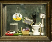 "Postcard Sized Magnet with Beetle Diorama Photo. 3x5"" Large"