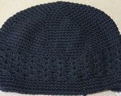 Black Size Large Kufi Beanie Hat