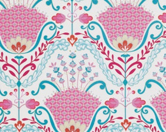 Hyacinth in Pink / Little Azalea by Dena Designs Fabric / 1 Yard Cotton Quilt Fashion Fabric