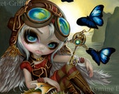 Clockwork Dragonling art print by Jasmine Becket-Griffith 8x10 steampunk fairy butterfly angel mechanical