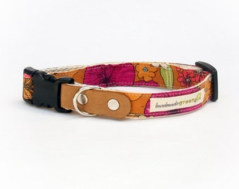 Liberty of London, Sicilly Flora. Hemp Dog Collar. Small-Medium-Large.