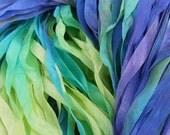 Hand Dyed Ribbon WILD IRIS   1/4 inch  10 yards