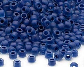 3 oz Matte Cobalt Blue Inside Color Czech Glass Seed Beads Loose Bag 6/0 1300 beads