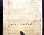 Even So- blank handbound journal, encaustic mixed media