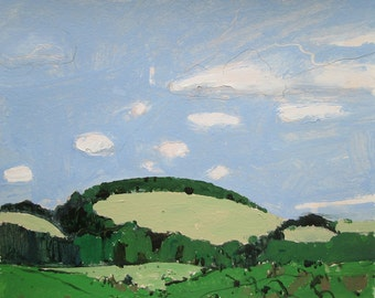 From Stewart Line, Original Landscape Painting on Paper, Stooshinoff