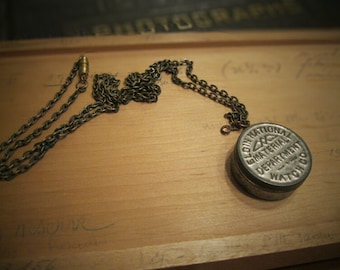 Found Object Locket NO.1 - Pendant Necklace