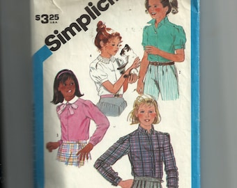 Simplicity Child's Set of Blouses Pattern 6555