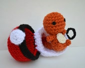 Charmander Plush amigurumi doll chibi