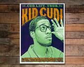 Kid Cudi Screenprinted Poster