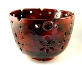 Chocolate Cherry Fruit Bowl - Home Decor SHIPS TODAY