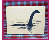 Classic Nessie in the Loch Rubber Stamp Loch Ness Monster Scotland #800