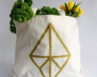 Diamond Tote Bag- Recycled Cotton