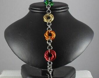 Rainbow Moebius Bracelet v.2