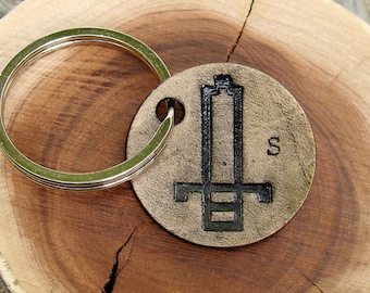 Personalized It's Dangerous To Go Alone, Take This Small Leather Keychain