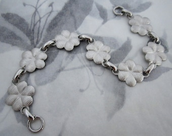 2 pcs. vintage silver tone flower bracelet lengths #f4285